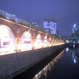 ライトアップされた交通博物館 by happybeliever