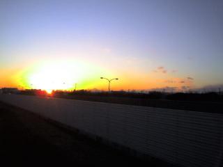 夕陽と富士山(knoboru)
